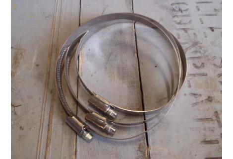 RVS slangklemmen 100 tot 120 mm