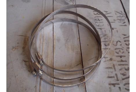 RVS slangklemmen  160 tot 180 mm