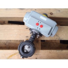 DN  50 Pneumatisch bediend. Butterfly Valve. Unused.