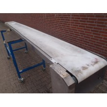 Transportband 38 cm breed 500 cm lang, Roestvrij staal.