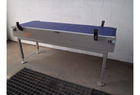Transportband 50 cm breed 170 cm lang, Roestvrij staal.