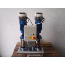 Booster unit / drukverhogingsset LOWARA 2 x 2.2 KW 400 volt . Used