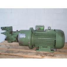 Hydrauliek pompset 7,5 KW 250 bar. Used.