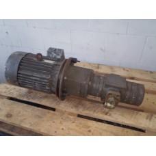 Hydrauliek pompset Orsta TGL 10885  16/6,3  2,2 KW 63 bar. Used.