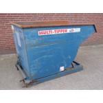 Multi Tipper Kiepcontainer Kiepbak met afrolsysteem 1200 liter. Gebruikt