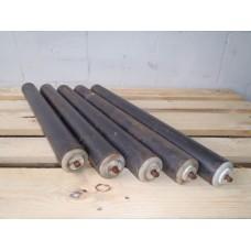 Partij rollen, rond 60 mm lengte 62 cm rollenbaan