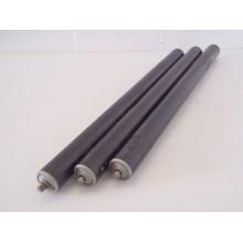 Partij rollen, rond 50 mm lengte 70 cm, rollenbaan rollerbaan kunststof.