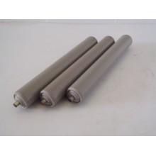 Partij rollen, rond 50 mm lengte 36,5 cm, rollenbaan rollerbaan kunststof.