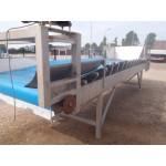 Transportband in trogvorm RVS.Trogbandtransporteur
