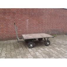 Platte kar transportkar handkar, 120 cm x 80 cm.