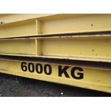 Evenaar, 660 cm. 6 Ton.