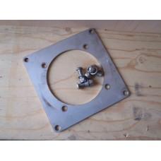 Montageplaat t.b.v. flensmontage reductor / motor D 110 mm. Used