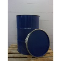 8 stuks metalen vaten/tonnen 200 liter deksel en klem 88x59cm.