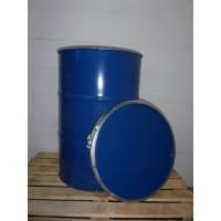 4 stuks metalen vaten/tonnen 200 liter deksel en klem 88x59cm.