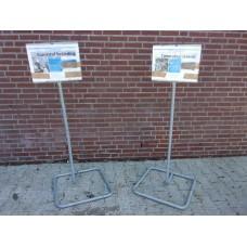 waarschuwingsbord informatiebord bouwterrein bouwput 10 stuks