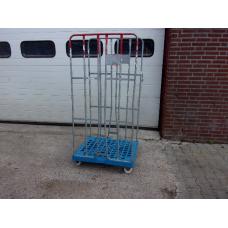 Gebruikte 2-heks rolcontainers, transportwagens, pakketwagen