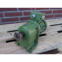 91 RPM  0,25 KW  BAUER. Used,