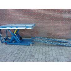 Schaartafel 600 kilo, hoogte max. 105 cm, mobiel . Gebruikt.
