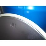 metalen vaten/tonnen 200 liter deksel en klem 88x59cm, zeer gaaf. ALLEEN AFHALEN !!!