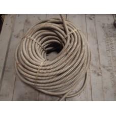 Vintage kabelbescherming, flexibel metaal, gegalvaniseerd.